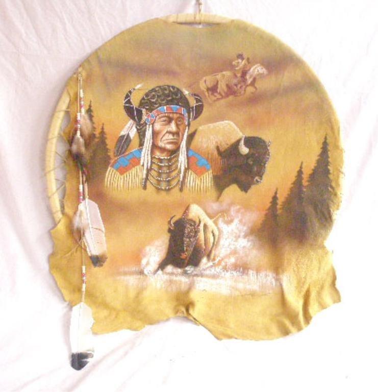 1124: Andrew Warren Navajo Hide Painting