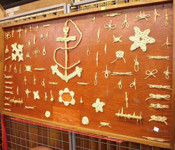 8: Display Board of Various Decorative Rope Knots