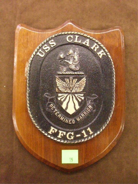 19: Presentation Plaque For the U.S.S. Clark FFG-11