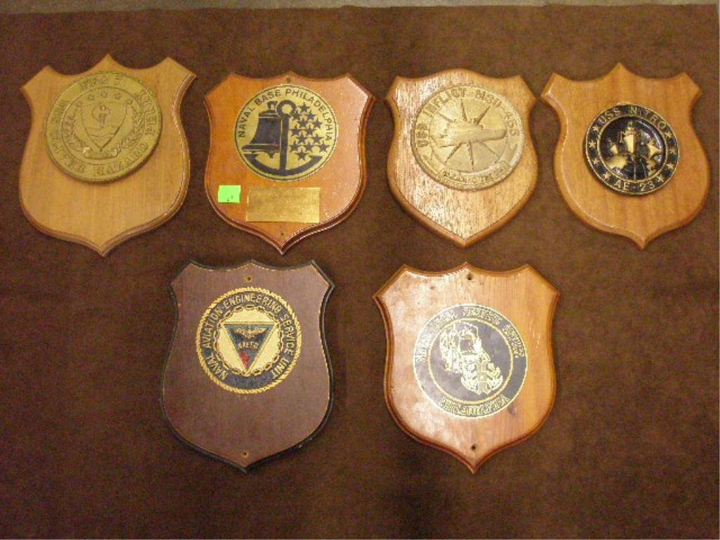 21: Lot of 6 Naval Support & Misc. Plaques