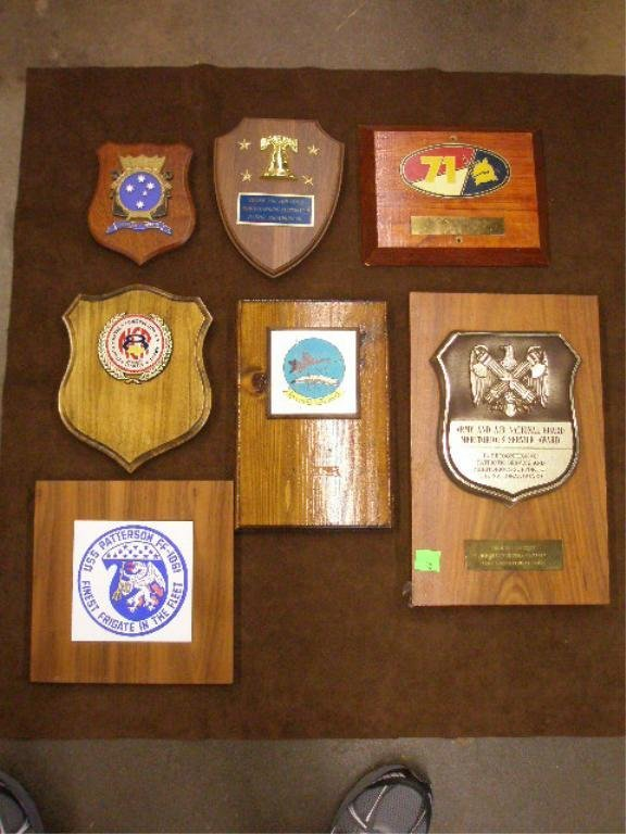 22: Lot of 7 Misc. Naval Presentation Plaques
