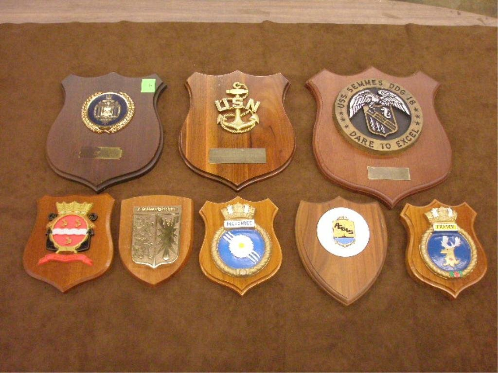 24: Lot of 8 Misc. Naval and Other Plaques