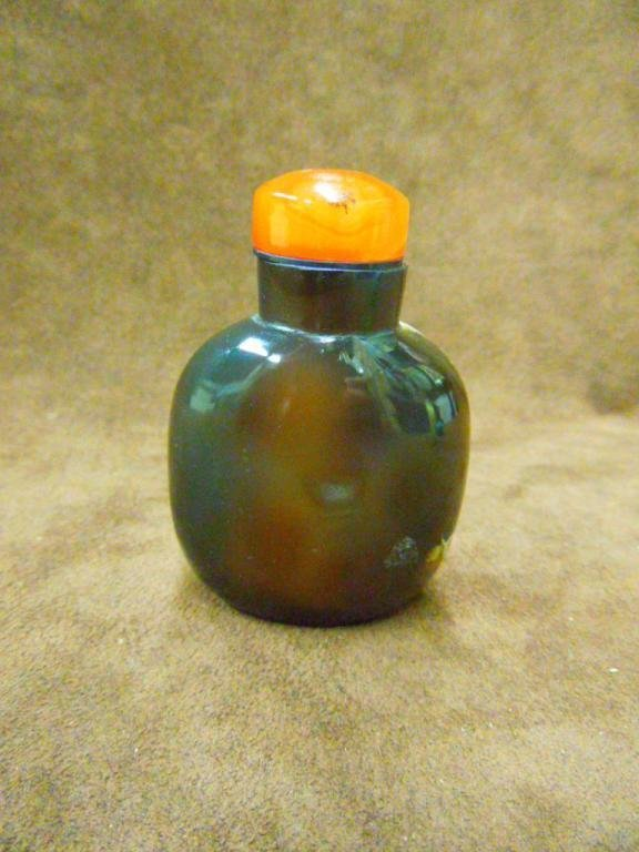 1014: Chinese Snuff Bottle in 2 Tone