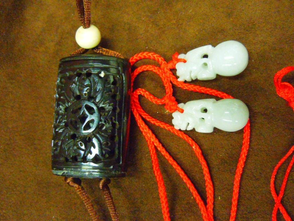 1023: Two Chinese Jade Pendants