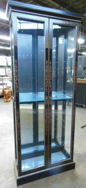 Japanned Curio Cabinet