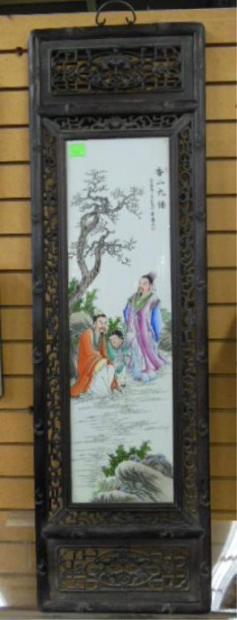 Chinese Porcelain Panel Depicting
