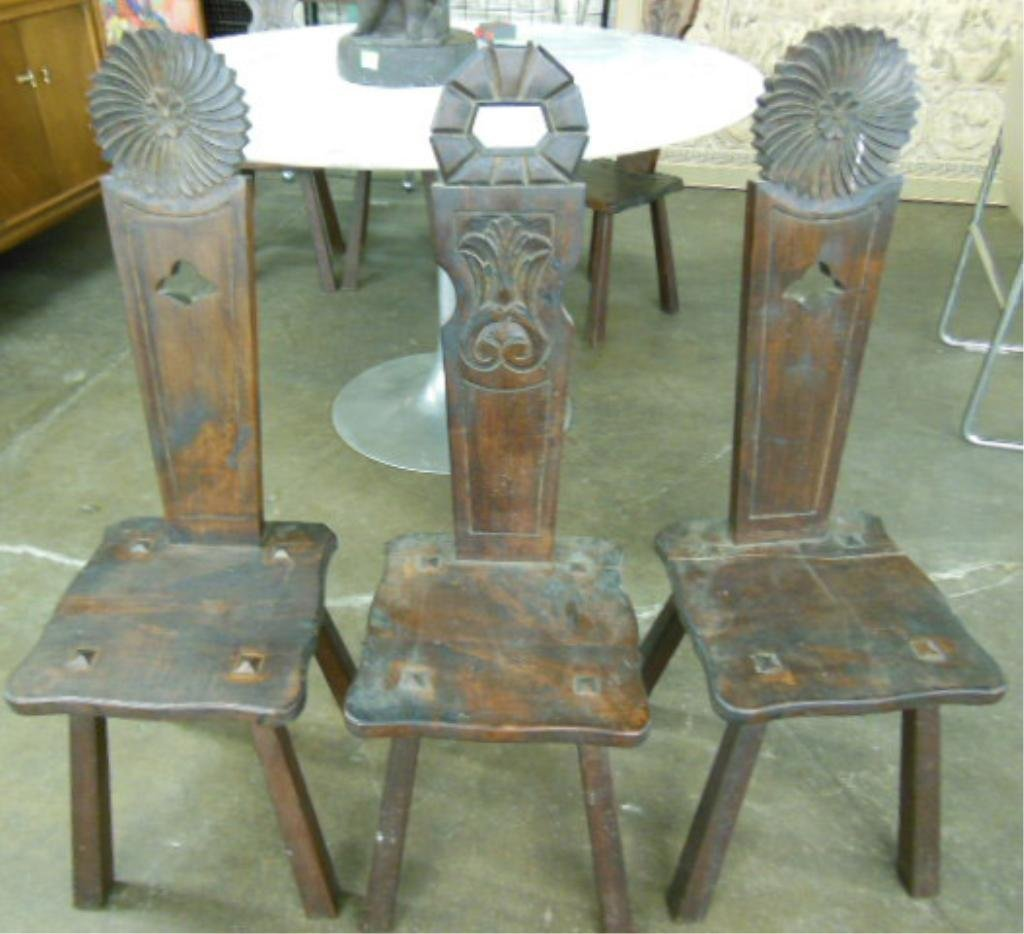 1284: Set of Bavarian Type Plant Seat Chairs