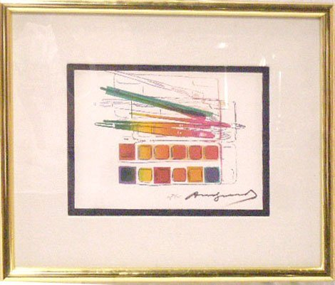 1288: Andy Warhol Colored Lithograph