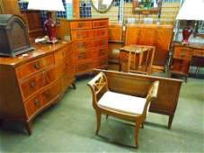1569 HepplewhiteStyle 11 Pc Bedroom Set