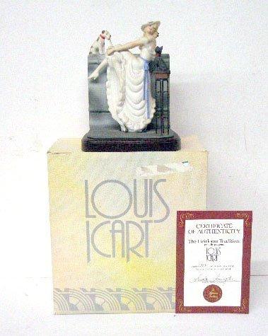2005: Louis Icart Au Bar Porcelain Figurine