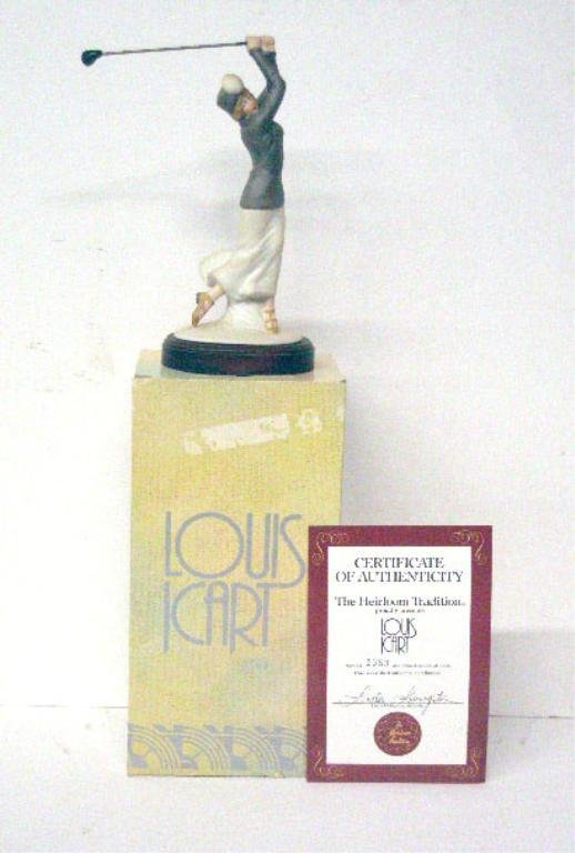 2007: Louis Icart Le Golf Porcelain Figurine