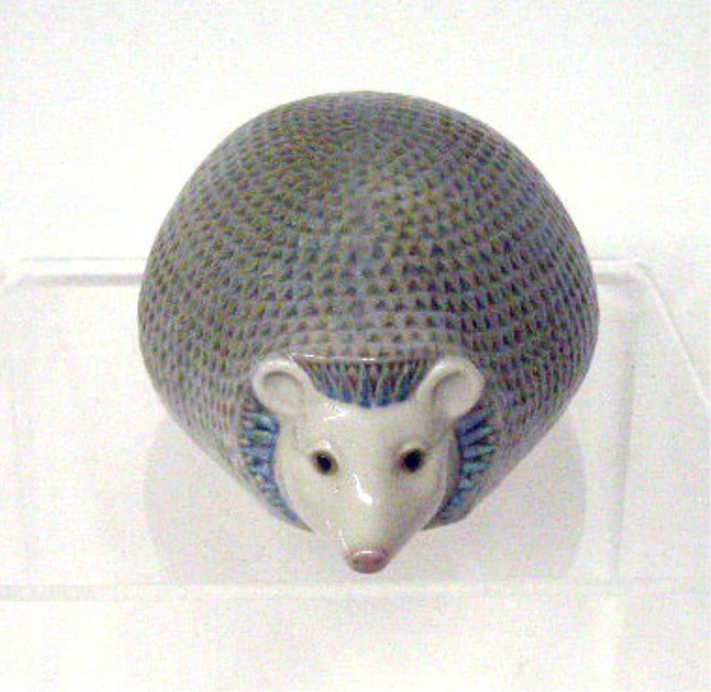 2013: Lladro Porcelain Hedgehog Figurine