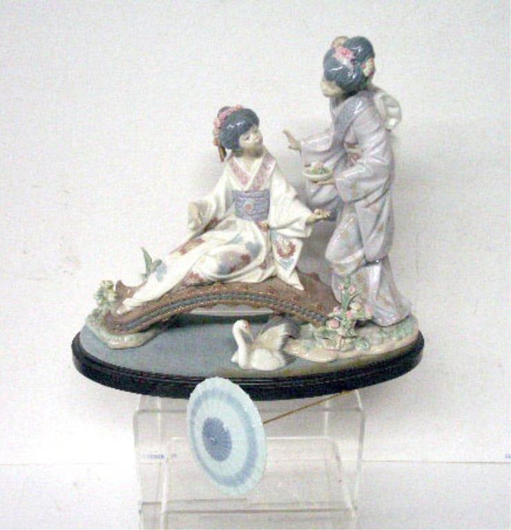 2015: Lladro Porcelain Springtime In Japan Figurine