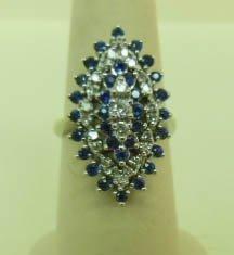 2366: 14k, Diamond & Sapphire Lady's Ring