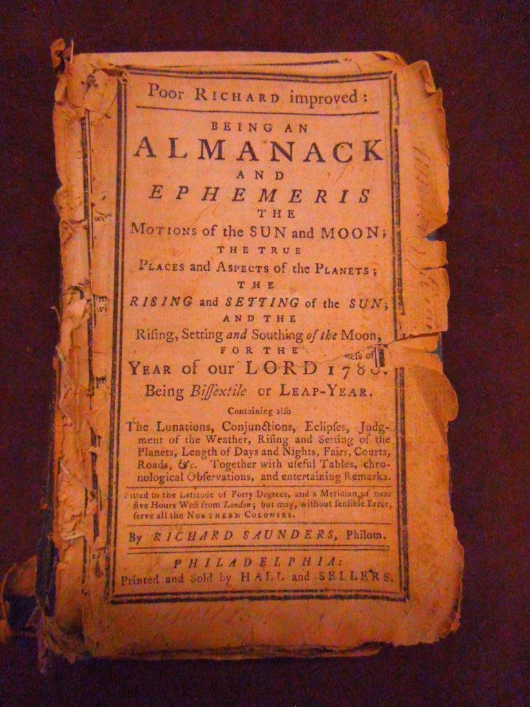 1053: (Almanac) Poor Richard Improved, Phila., 1780