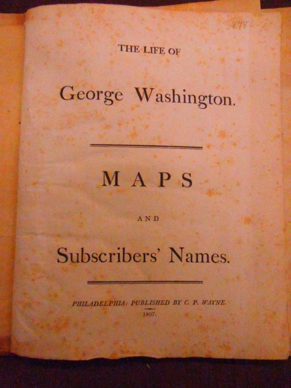 1170: Marshall, Life of George Washington: Atlas - 2