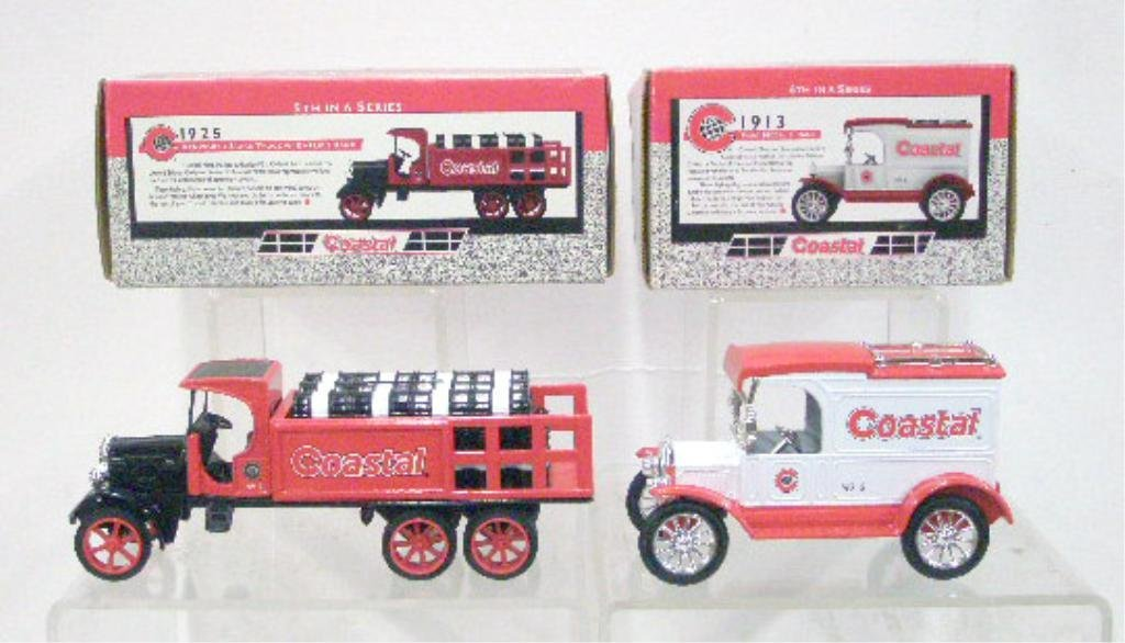16: Ertl Die Cast Coastal Truck & Car Banks