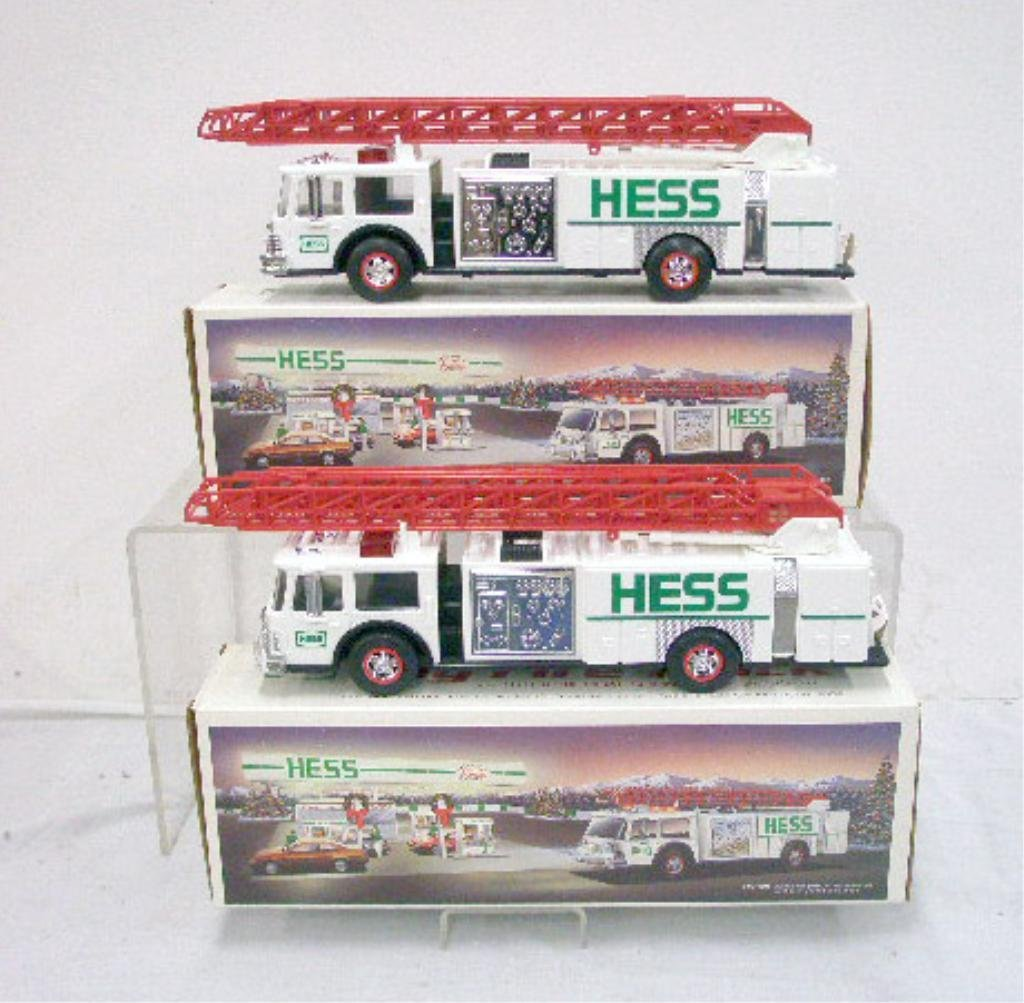 56: 1989 Hess Toy Fire Truck Banks