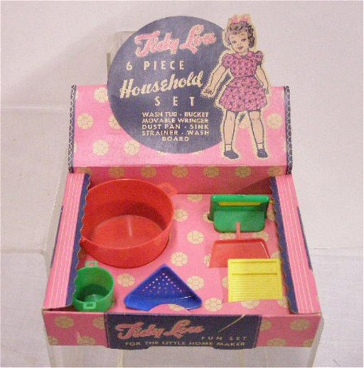 219: 1940's Plas-Tex Tidy Lou Household Set