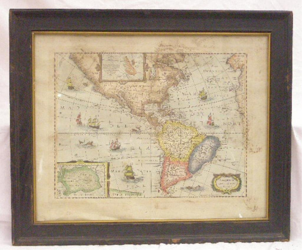 [after Hondius] 1641 Map Of The Americas (later issue)
