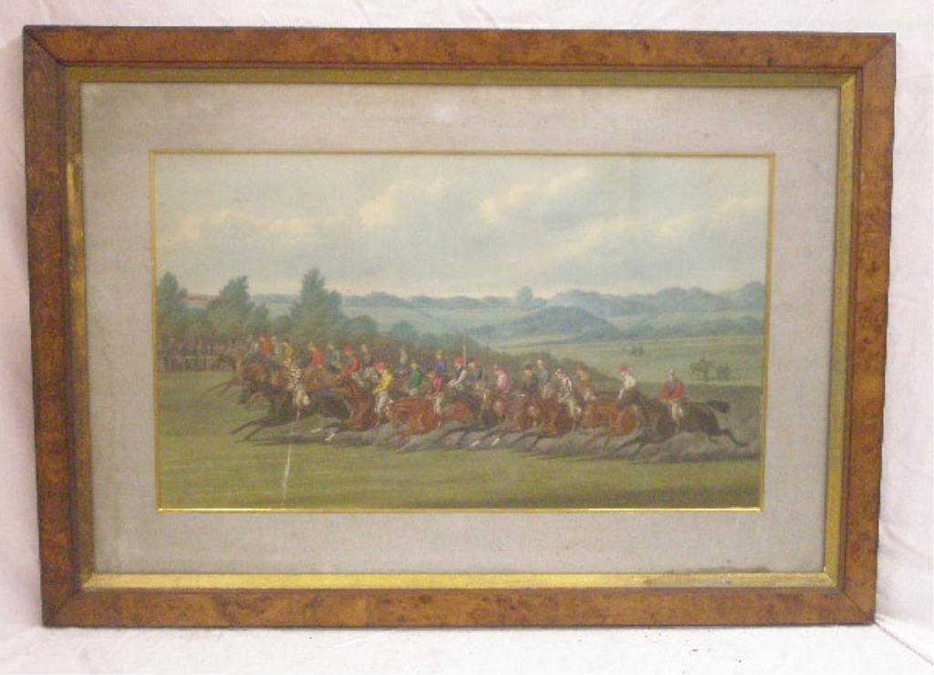 19th c. English Horse Race Print