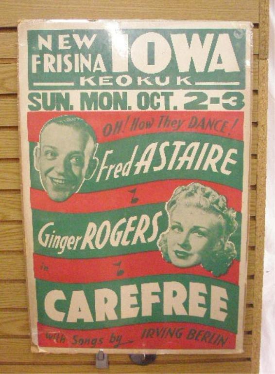 1934 Carefree Movie Poster