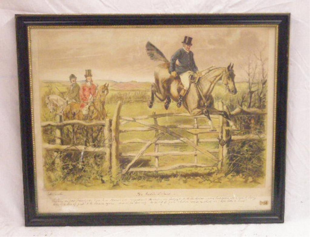 19th c. English Hunt Scene Chromolithograph