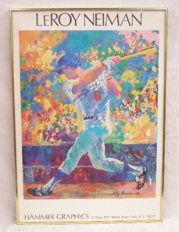 Leroy Neiman Steve Garvey Poster