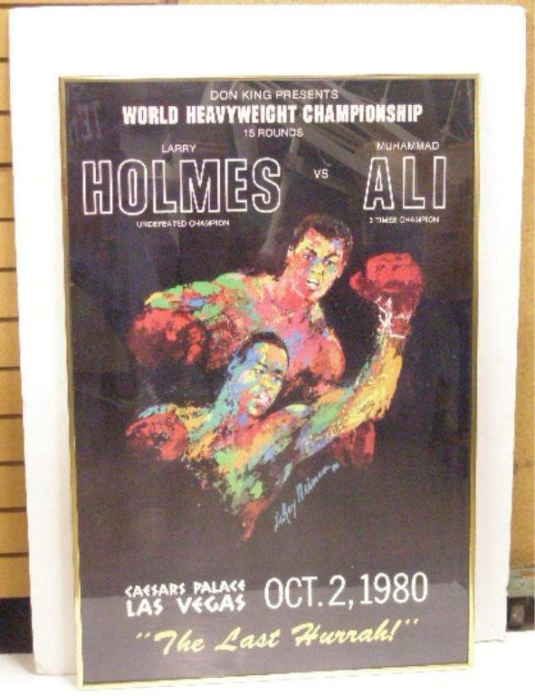 Leroy Neiman Holmes vs. Ali Poster