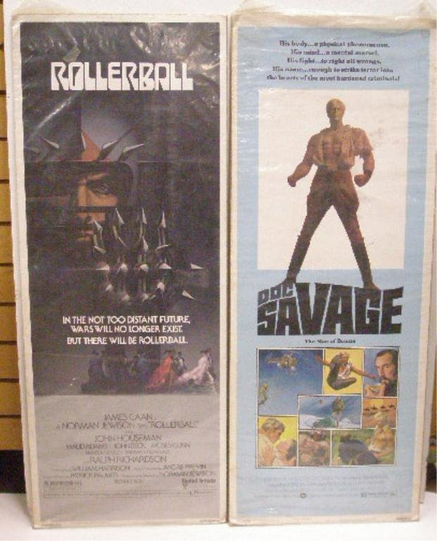 Rollerball & Doc Savage Movie Posters