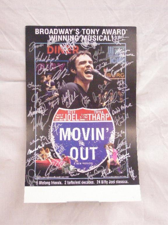 Signed Movin' Out Show Poster