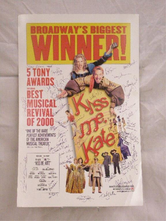 Signed Kiss Me, Kate Show Poster