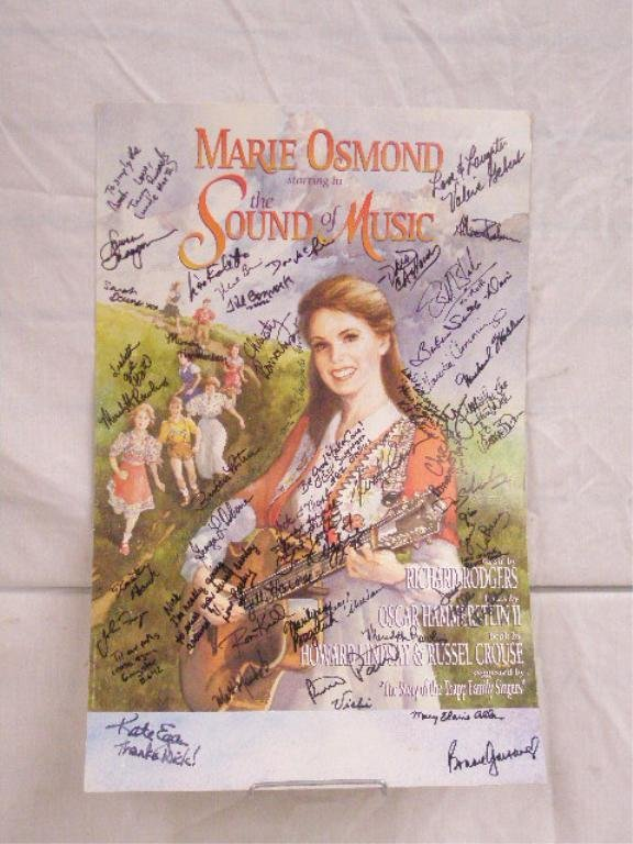 Signed Sound of Music Show Poster