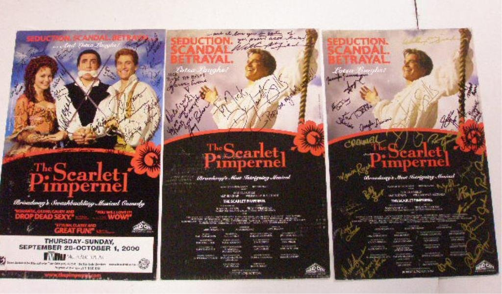 Signed The Scarlet Pimpernel Show Posters