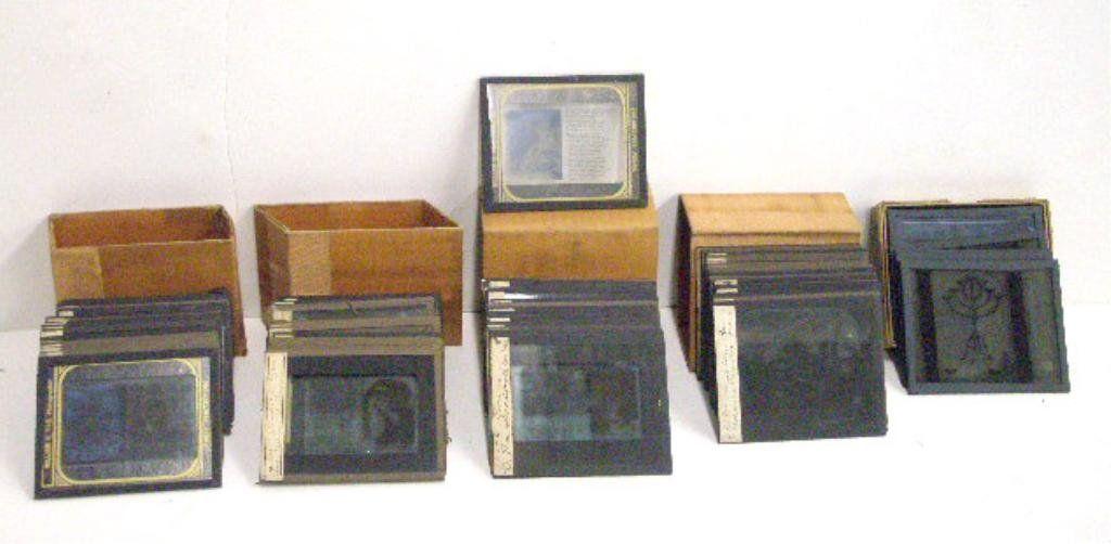 Antique Magic Lantern Glass Slides
