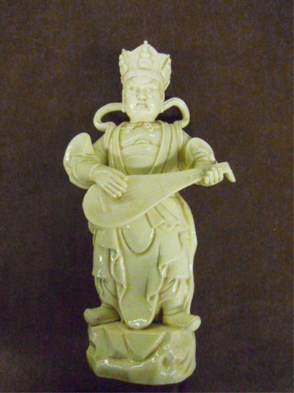 Chinese Blanc de Chine Musician Figure