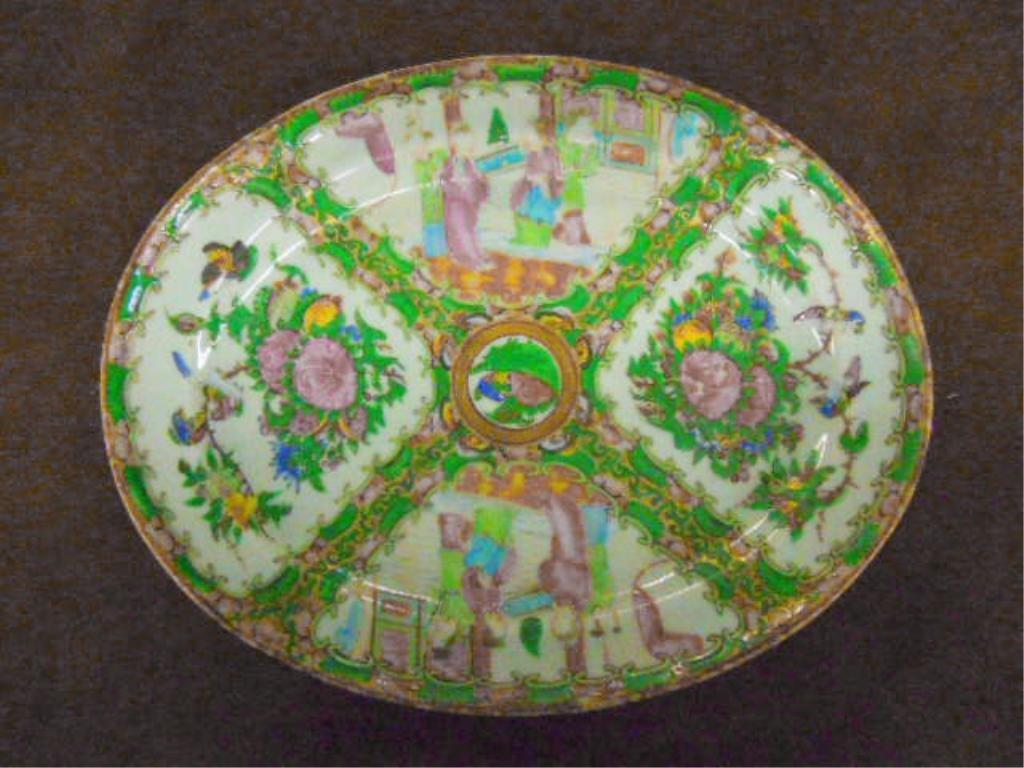 Rose Medallion Porcelain Platter