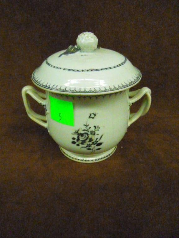 Chinese Export Covered Sugar Bowl