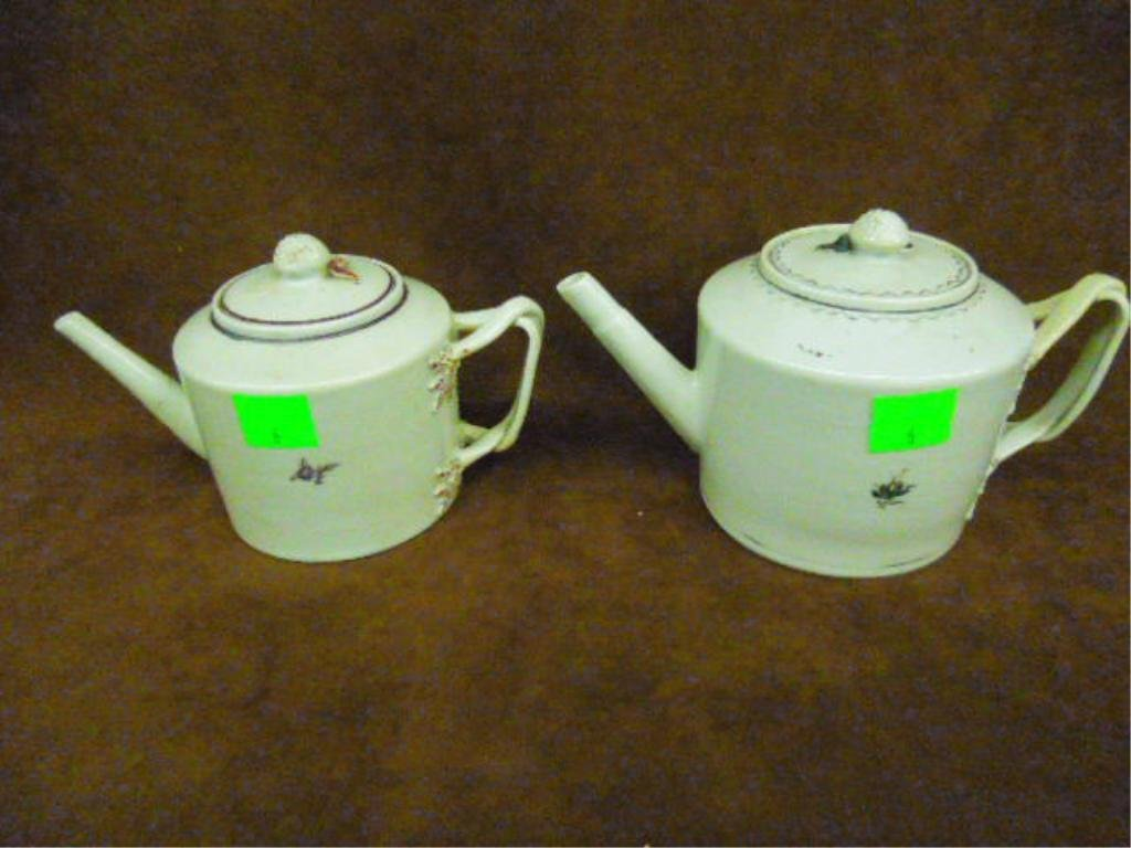 Two Chinese Export Teapots