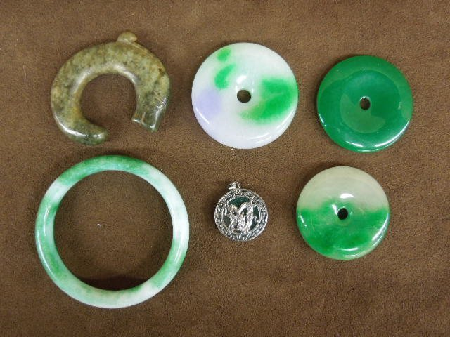 Six Chinese Jade Pieces