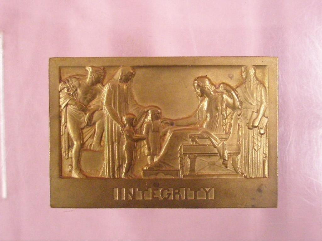 Alfred Bottiau Bronze Commemorative Plaque