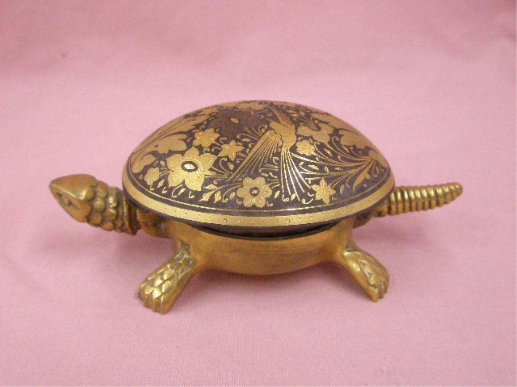 Vintage Brass Turtle Desk Bell