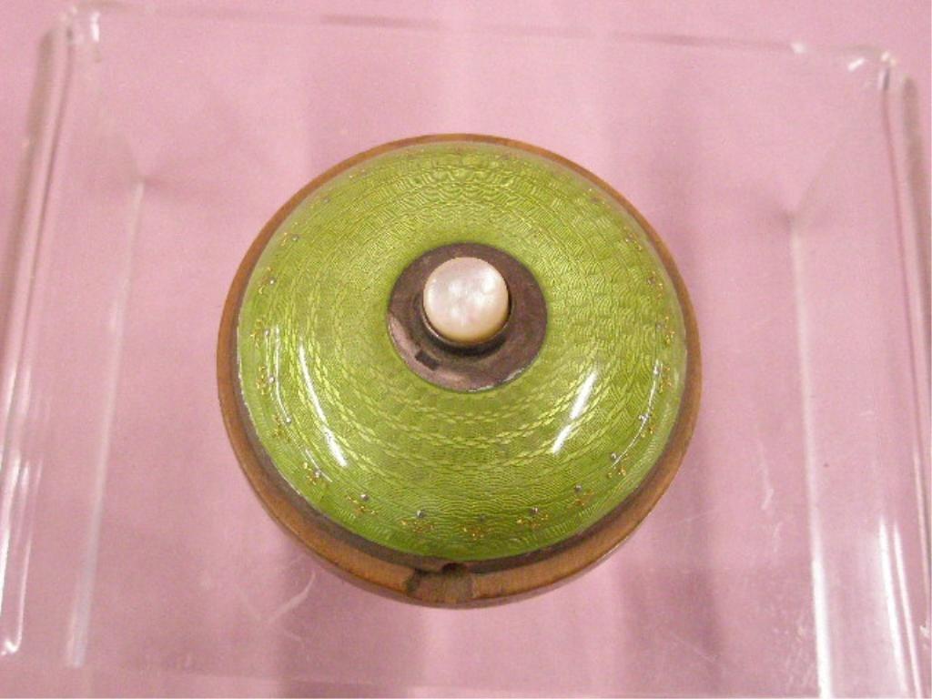 1920's Silver & Enamel Bell Push