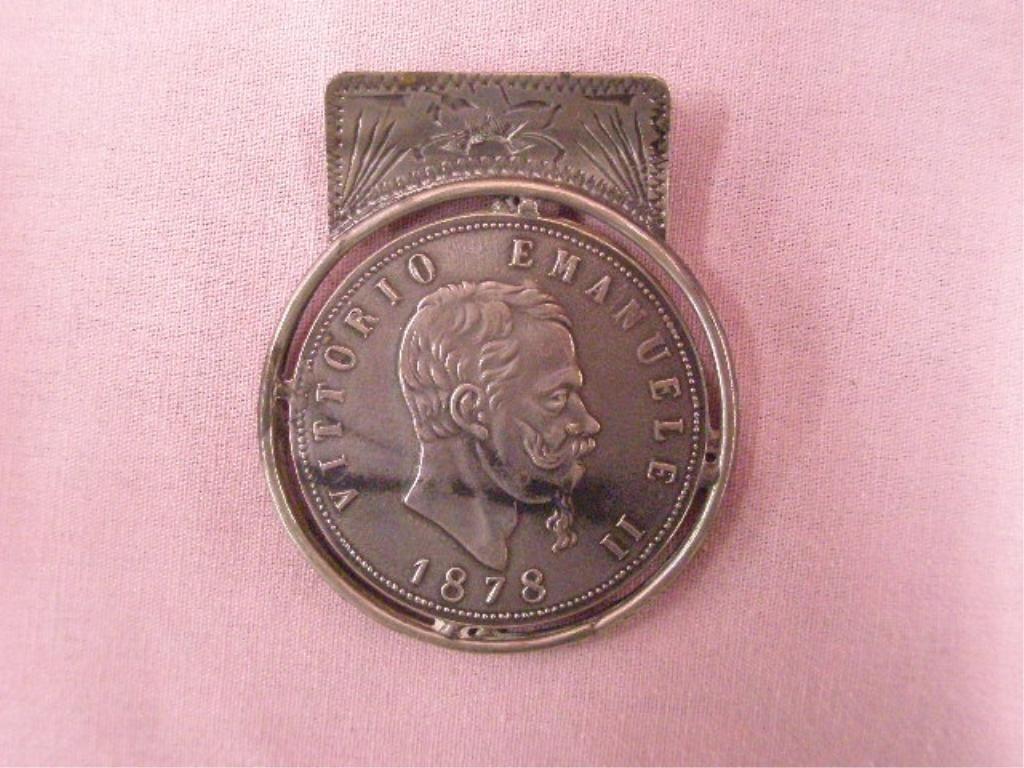 Antique 800 Silver Money Clip