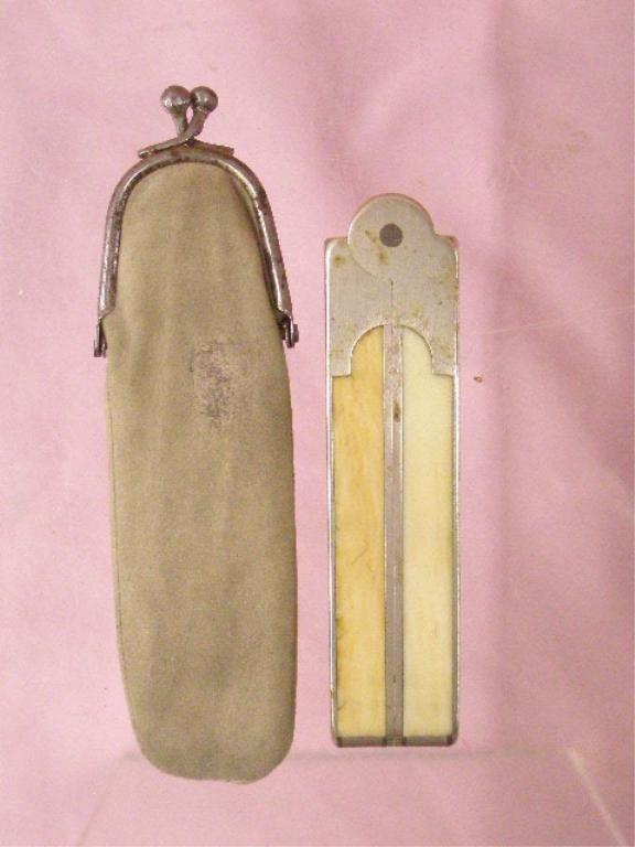 Antique Ivory Folding Ruler
