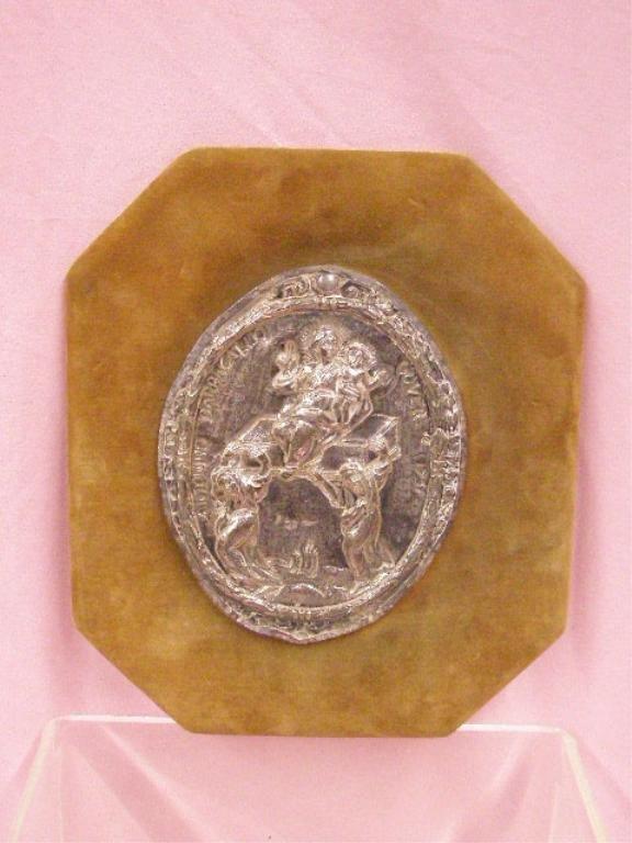 18th c. Continental Silver Plaque
