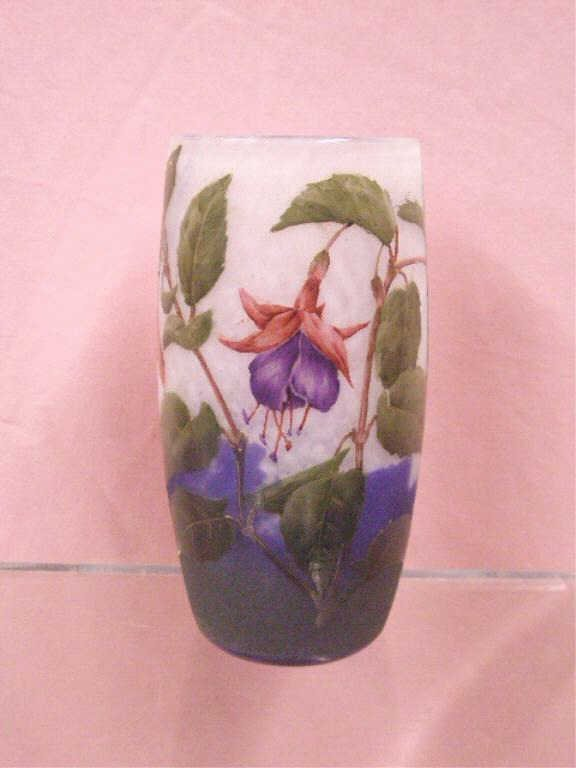 Daum Nancy Cameo Art Glass Vase
