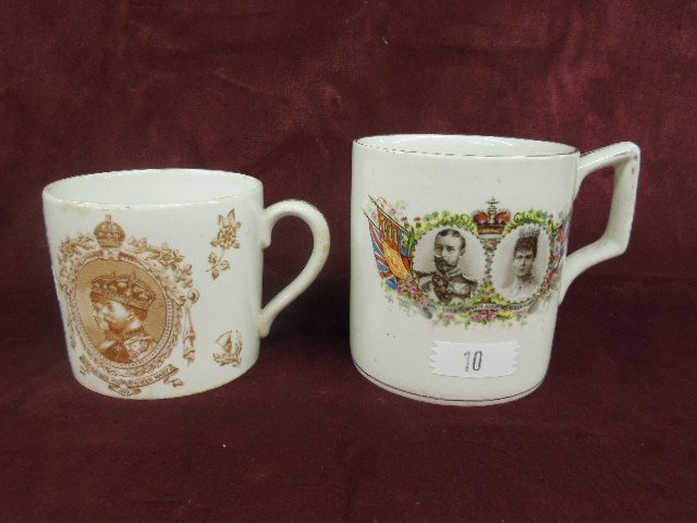 2 - George V Coronation Mugs