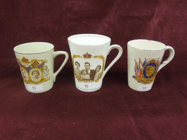 3 - George VI Coronation Cups