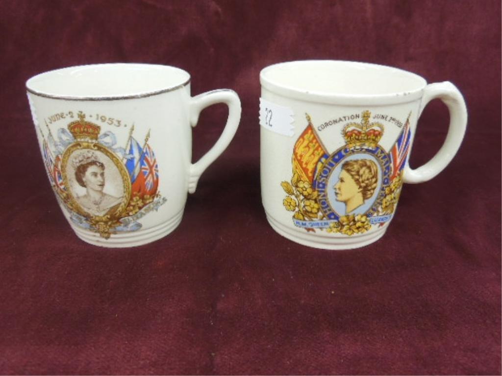 2 - Queen Elizabeth II Coronation Cups